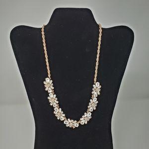 Rose Gold Rhinestone Necklace NWT